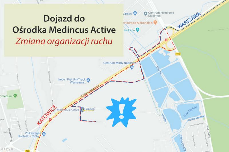 Zmiana organizacji ruchu na trasie dojazdu do Ośrodka Medincus Active w Kajetanach