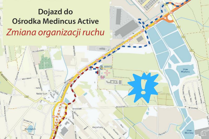 www Mapa dojazdu-zmiana organizacji ruchu Medincus Active